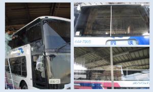 西日本バス ガラス部分