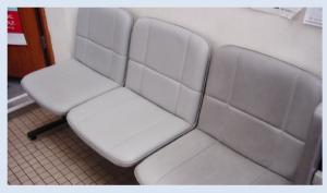 新森特定郵便局 人工皮革椅子